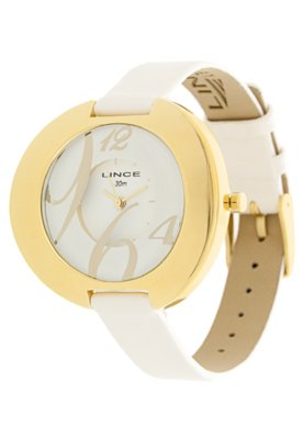 Relógio LRC5029L Dourado/Branca - Lince