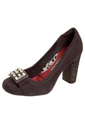 Sapato Scarpin Glitter Marrom - Dakota