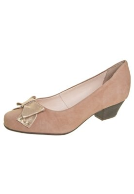 Sapato Scarpin Bottero Laço Salto Baixo Marrom
