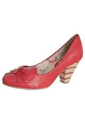 Sapato Scarpin Bottero Salto Colorido Médio Leque Vermelho