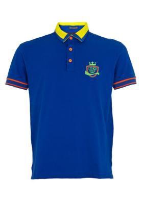 Camisa Polo Coca-Cola Clothing Austrália Wave Azul - Coca C...