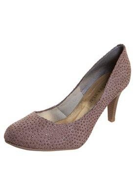 Sapato Scarpin FiveBlu Pontos Metalizados Rosê