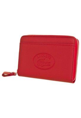 Carteira Lacoste Small Zip Wallet Vermelha
