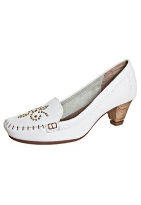 Sapato Scarpin Salto Taxas Unique Branco - Dakota