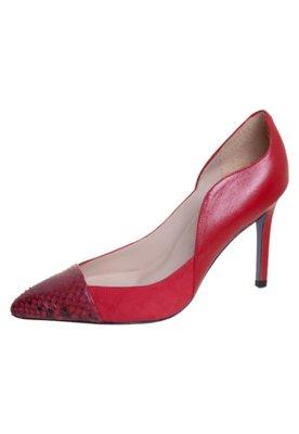 Sapato Scarpin Gabi Python Vermelho - Cavage