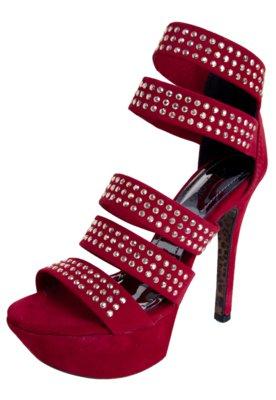 Sandália Crysalis Tiras Vermelha