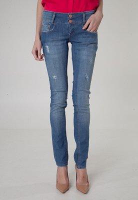 Calça Jeans Acostamento Skinny Shiui Azul