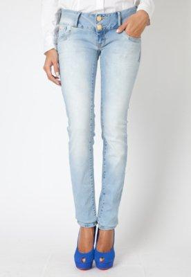 Calça Jeans Elegance Helen Rebites Azul - Forum