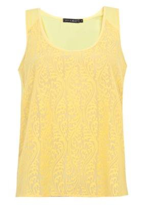 Blusa FiveBlu Romantic Amarela