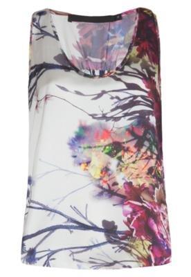Blusa Flowers Branca - Espaço Fashion
