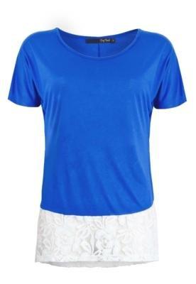 Blusa Pop Touch Donna Azul