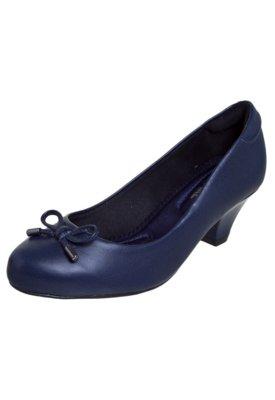 Sapato Scarpin Modare Salto Baixo Laço Linha Profissional C...