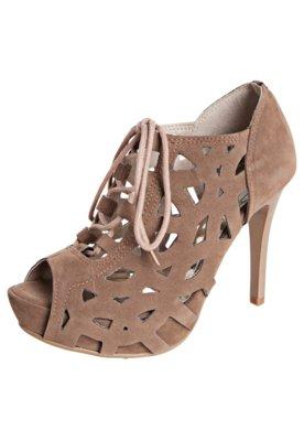 Ankle Boot Vazados Bege - Crysalis