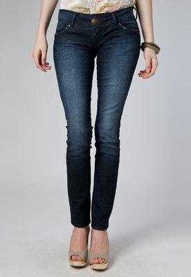 Calça Jeans Jú Skinny Estonada Azul - Forum