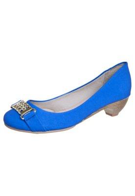 Sapato Scarpin Anna Flynn Salto Baixo Azul