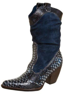Bota Cowboy Cavage Python Azul