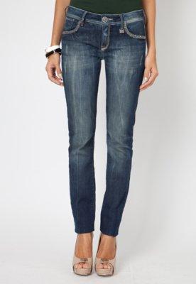 Calça Jeans Forum Skinny Raquel Paetês Azul