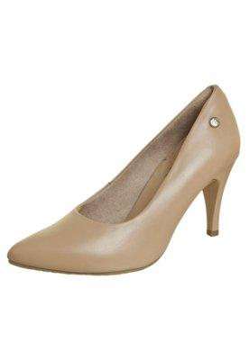 Sapato Scarpin Bico Fino Bege - Malu Super Comfort
