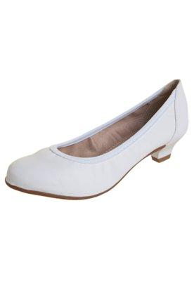 Sapato Scarpin Beira Rio Saltinho Elástico Branco