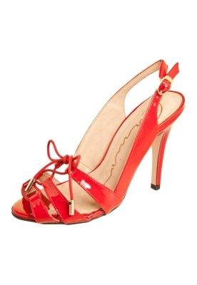 Sandália Carmim Chanel Tiras Vermelha
