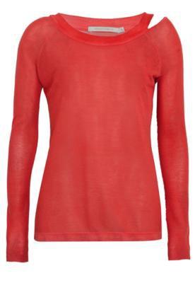 Blusa Espaço Fashion Abertura Vermelha
