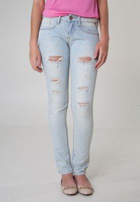 Calça Jeans Khelf Skinny Color Azul