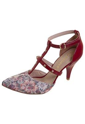Sapato Scarpin Salomé Pirâmides Vinho - Bebecê