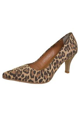 Sapato Scarpin FiveBlu Estampa Onça