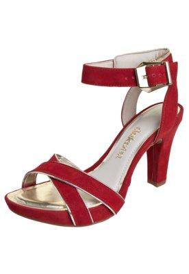 Sandália Dakota Meia Pata X Debrum Vermelha