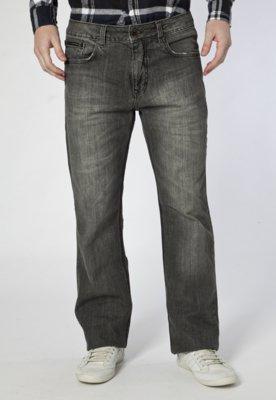 Calça Jeans Calvin Klein Jeans Reta Bordados Preta