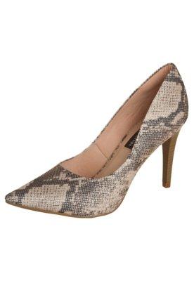 Sapato Scarpin Anna Flynn Elegance Bege