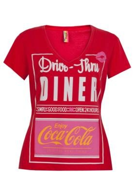 Blusa Coca-Cola Small Dinner Vermelha - Coca Cola Clothing