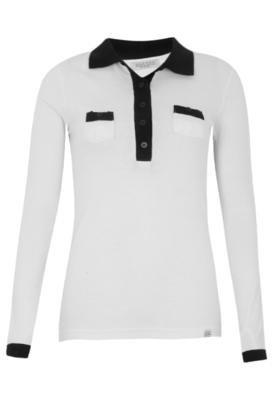 Camisa Polo Anna Flynn Casual Branca