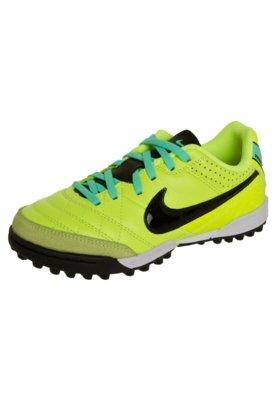 Chuteira Futsal Nike JR Tiempo Natural LTR IC Verde