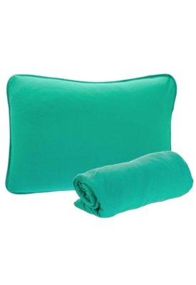 Jogo de Cama Solteiro Brilhante Liso 2 Peças Verde