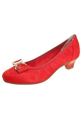 Sapato Scarpin Beira Rio Saltinho e Laço Vermelho