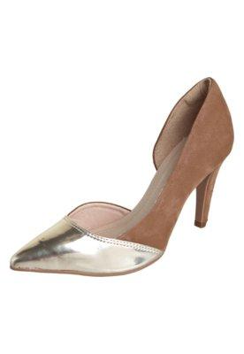 Sapato Scarpin Dakota Bicolor Marrom