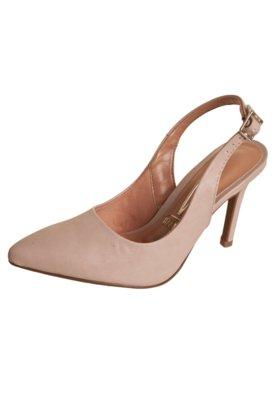 Sapato Scarpin Vizzano Chanel Salto Alto Bege