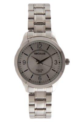 Relógio Seculus 28247L0SBNA1 Prata