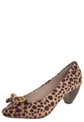 Sapato Scarpin FiveBlu Trama Onça