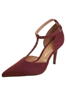 Sapato Scarpin Vizzano Salomé Bicolor Vinho