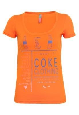 Blusa Coca-Cola Loose Garrafa Laranja - Coca Cola Clothing