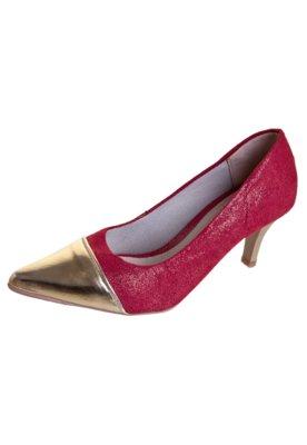 Sapato Scarpin Pink Connection Biqueira Vermelho