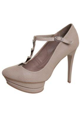 Sapato Scarpin Anna Flynn Mary Jane Marrom