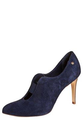 Ankle Boot Lilly's Closet Salto Metalizado Azul