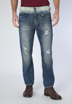 Calça Jeans Calvin Klein Authentic Reta Azul - Calvin Klein...