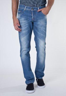 Calça Jeans Sawary Viés  Azul