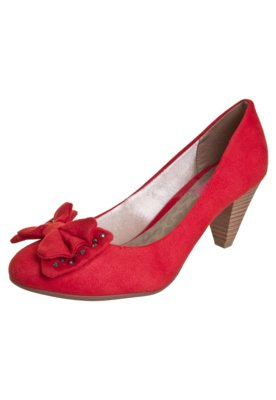 Sapato Scarpin Dijean Salto Médio Laço Hotfix Vermelho