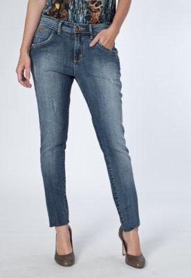 Calça Jeans Osmoze Skinny Puídos Azul