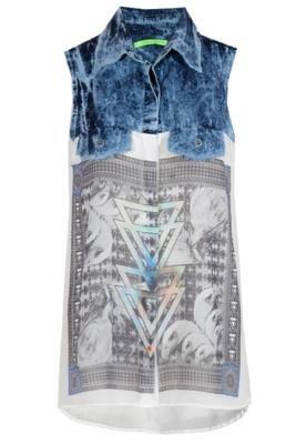 Blusa Pala Azul - Espaço Fashion